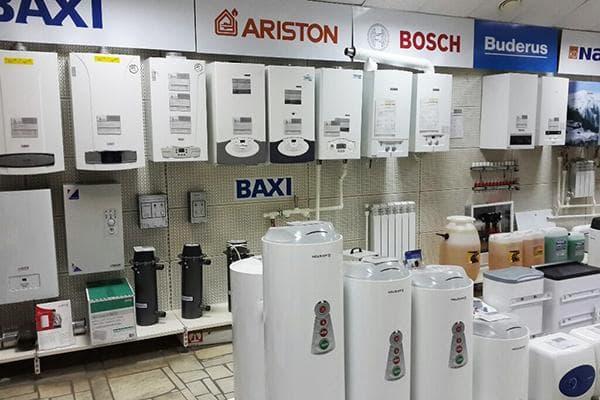 Ассортимент газовых котлов в магазине