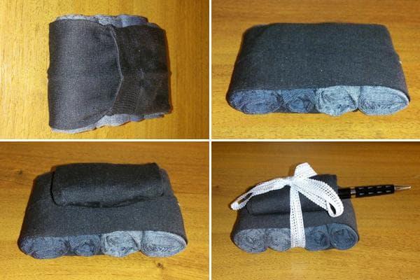 Пошаговое создание танка из носков и ручки