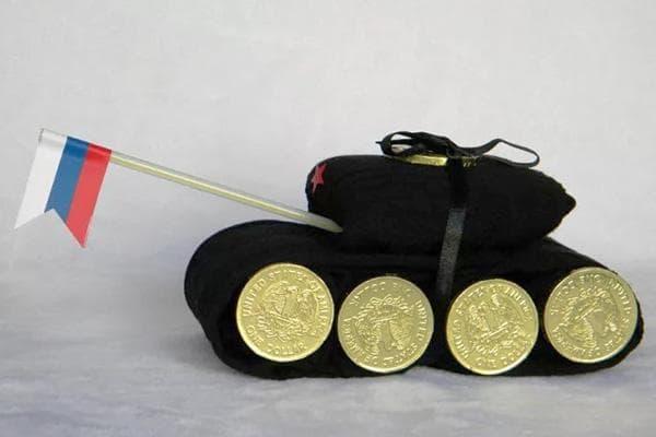Танк из носков и монеток