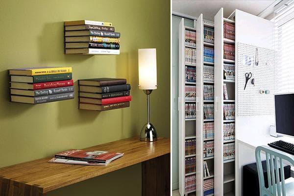 Дизайнерские решения для хранения книг