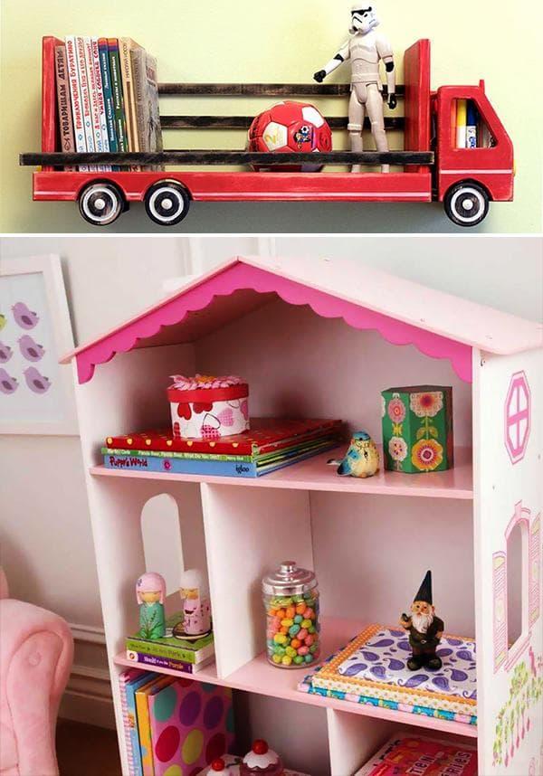 Библиотека в кузове автомобиля или в кукольном домике