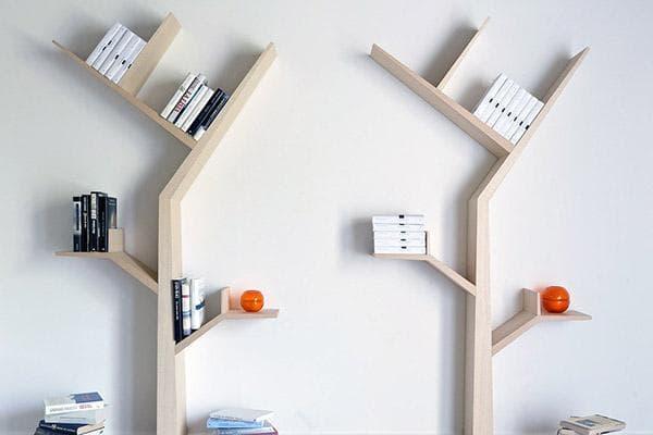 Книжные полки в виде деревьев