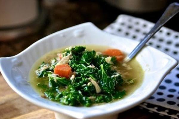 Куриный суп с имбирем