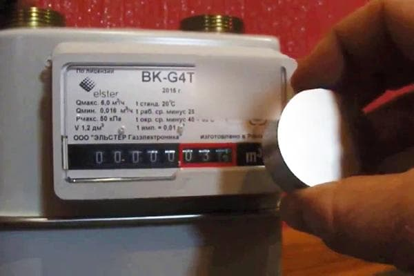 Счетчик газа и неодимовый магнит