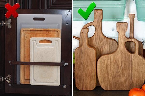 Разделочные доски - хранение на кухне
