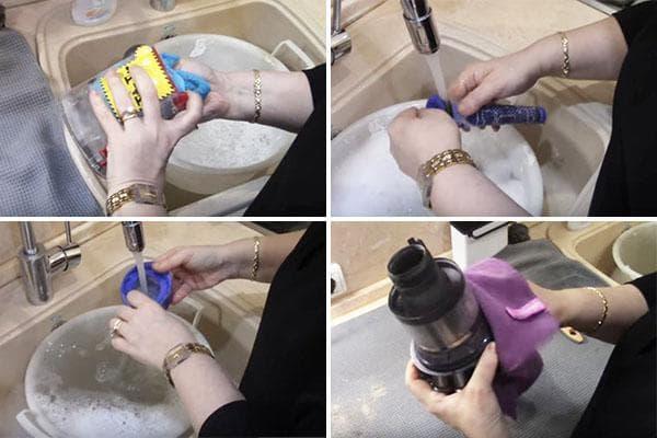 Промывание деталей пылесоса Dyson