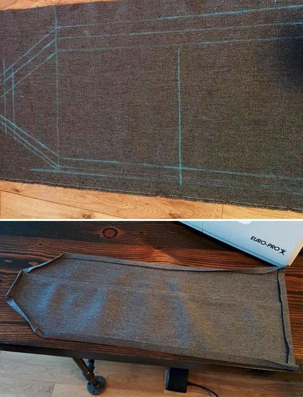 Изготовление джинсового органайзера с кармашками