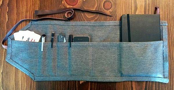 Джинсовый органайзер с кармашками для мелочей