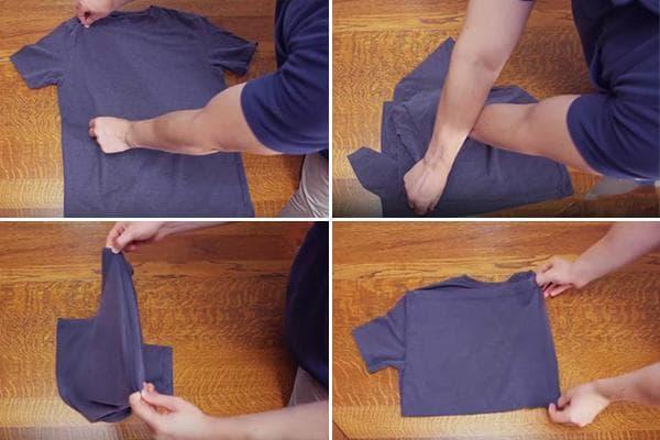 Складывание футболки за 2 секунды