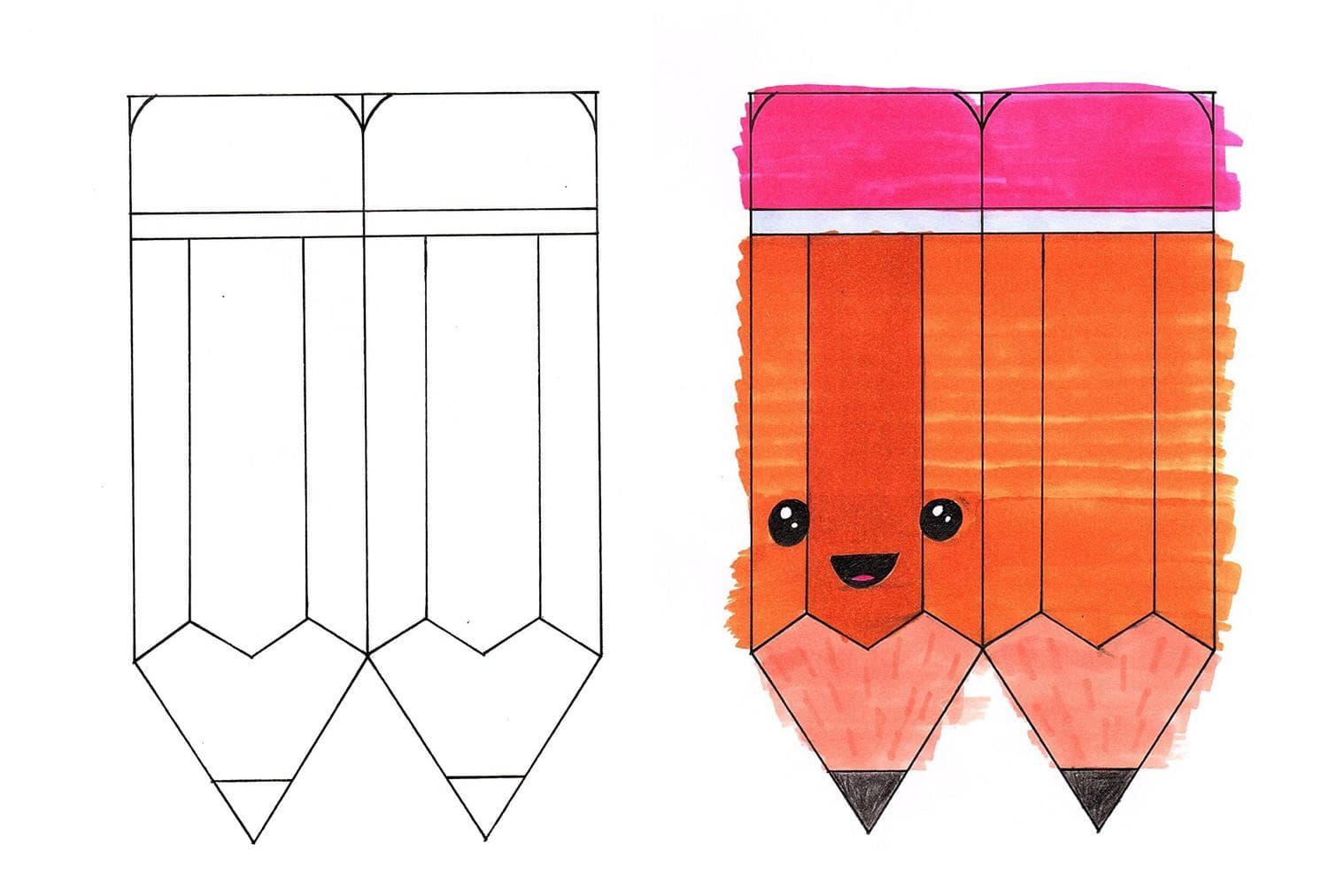 Шаблон для сквиши - карандаш