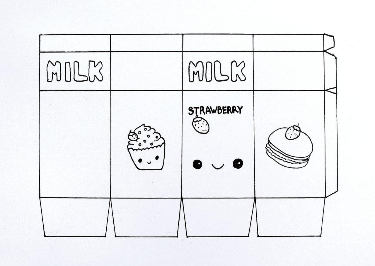 Шаблон для сквиши - пакет молока
