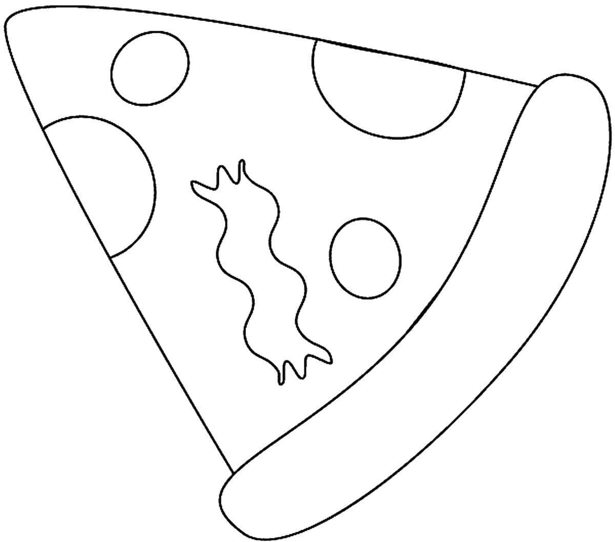 Шаблон для сквиши - кусочек пиццы