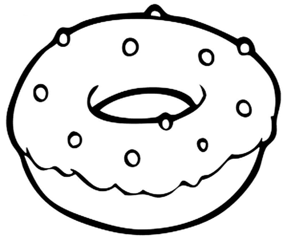 Шаблон для сквиши - пончик