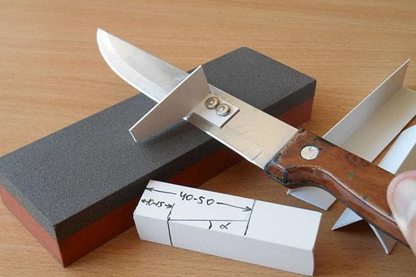 Угол заточки лезвия ножа