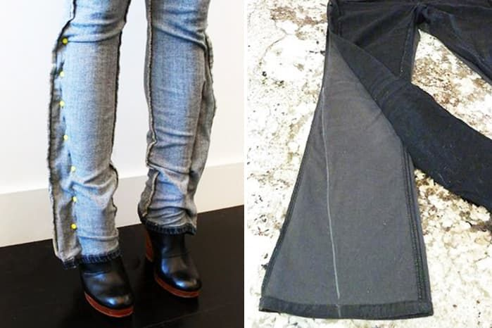 Как перешивать джинсы не нужно