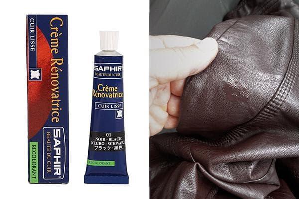 Реставрация кожаной куртки жидкой кожей