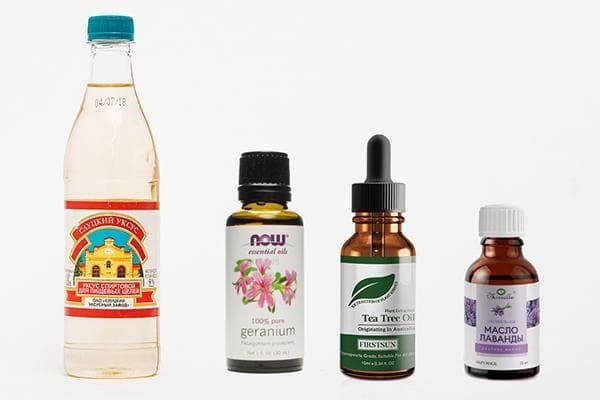 Уксус и эфирные масла для чистки каменной столешницы