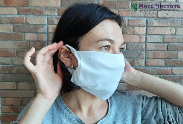 Защитная маска из салфетки
