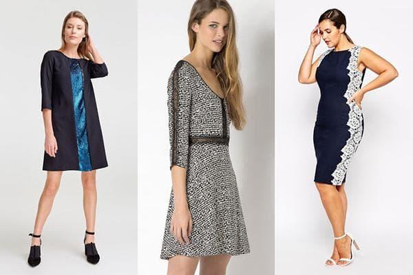 Платья с вертикальными вставками