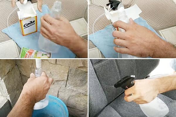 Раствор соды для чистки салона авто