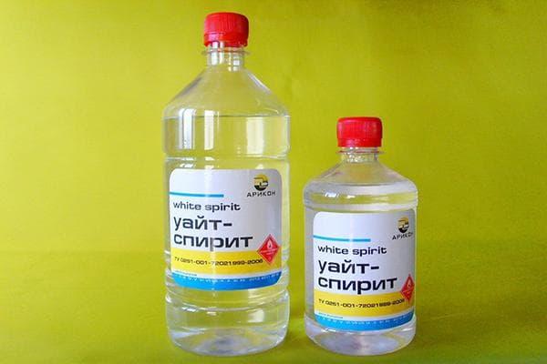Уайт-спирит в бутылях разного объема