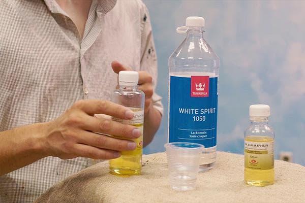 Использование уайт-спирита