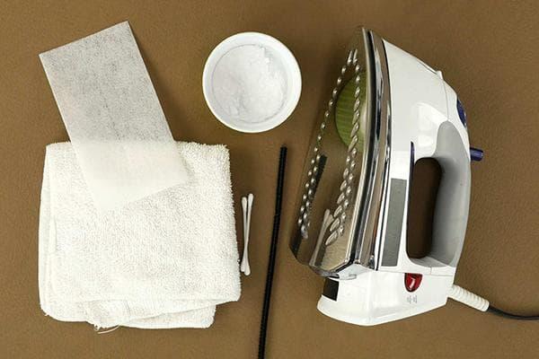 Подручные средства для чистки утюга