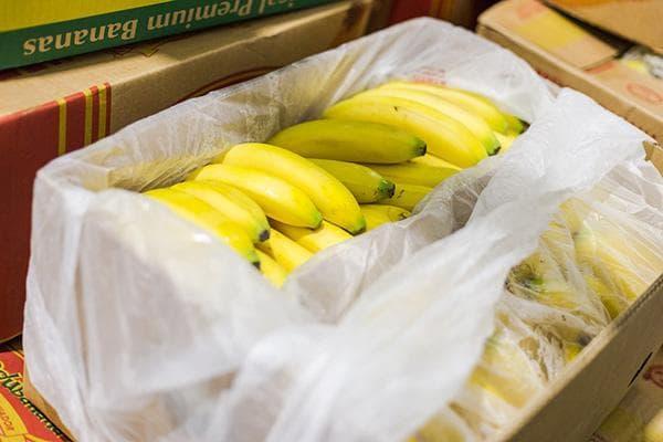 Коробка с бананами