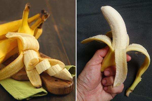 Варианты очистки банана