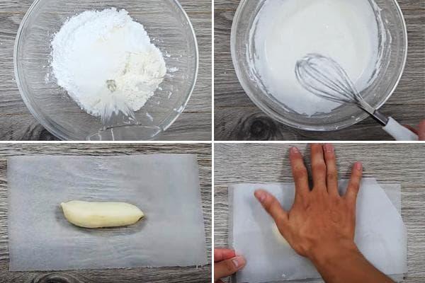 Приготовление кляра для бананов во фритюре
