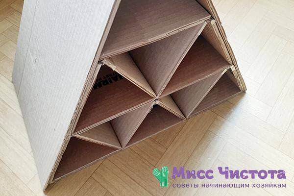 Органайзер из картонных коробок
