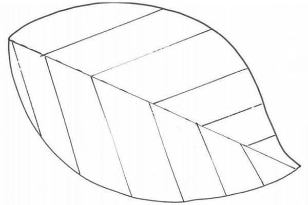 Шаблон стеганого коврика в виде листочка