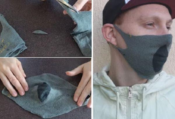 Шитье маски из носков 2