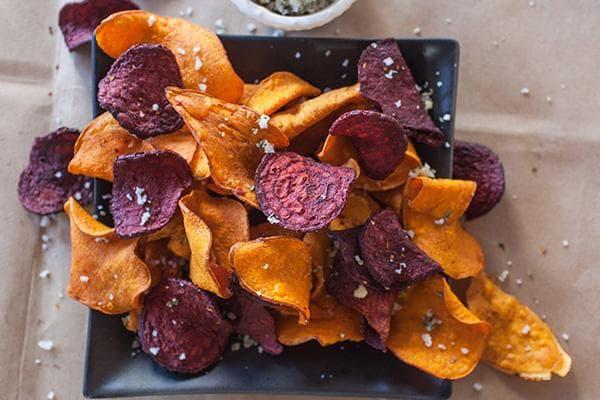 Морковные и свекольные чипсы