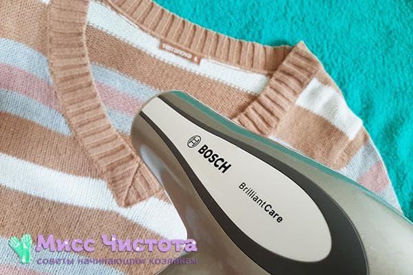 Сушка шерстяного свитера феном