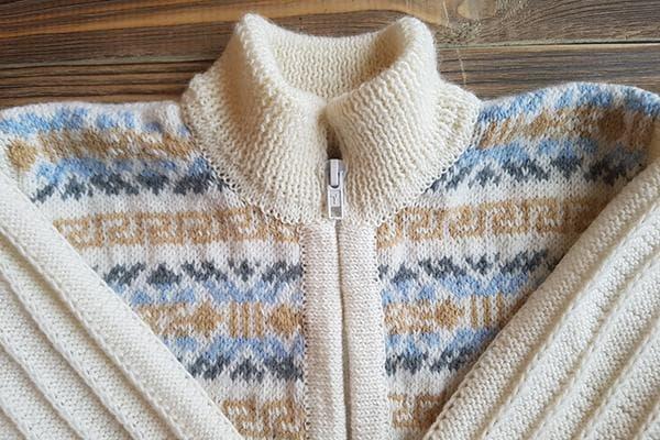 Шерстяной свитер на молнии