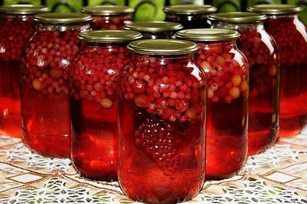 Консервированный компот из ягод