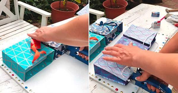 Изготовление органайзера из подарочных пакетов
