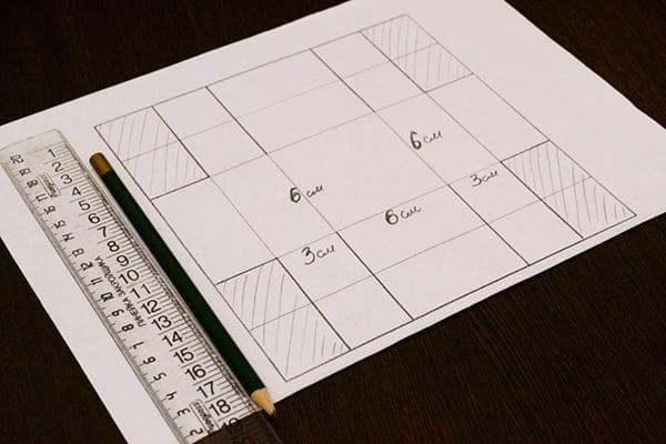 Схема шаблона для подарочной коробки