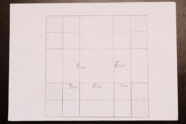 Схема для вырезания коробки