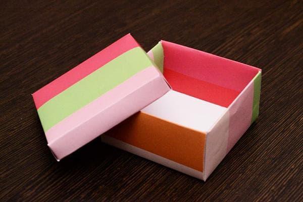 Коробочка из упаковочной бумаги