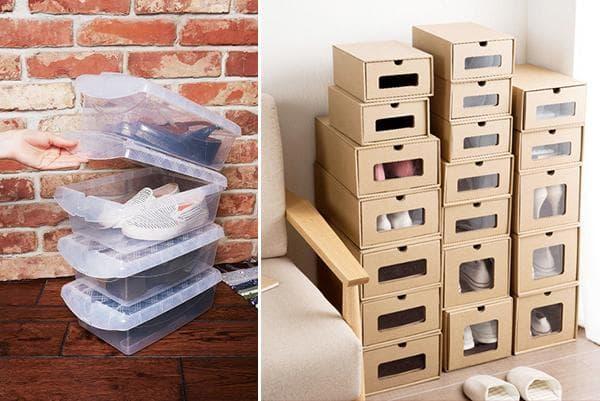 Ящики и коробки для хранения обуви