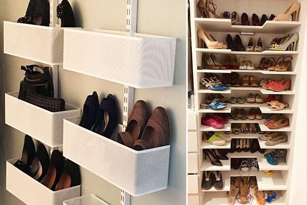Хранение обуви в гардеробных