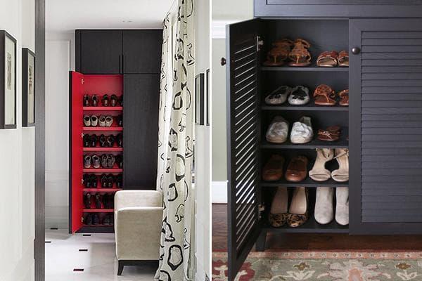 Хранение обуви в шкафах