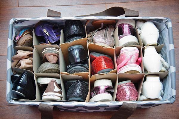 Самодельный органайзер для хранения обуви