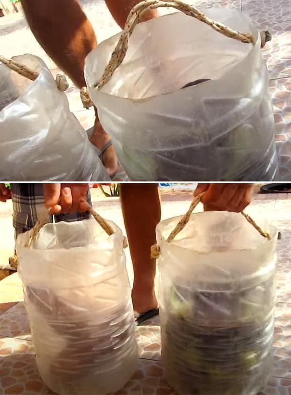 Самодельное ведро из пластиковой баклажки