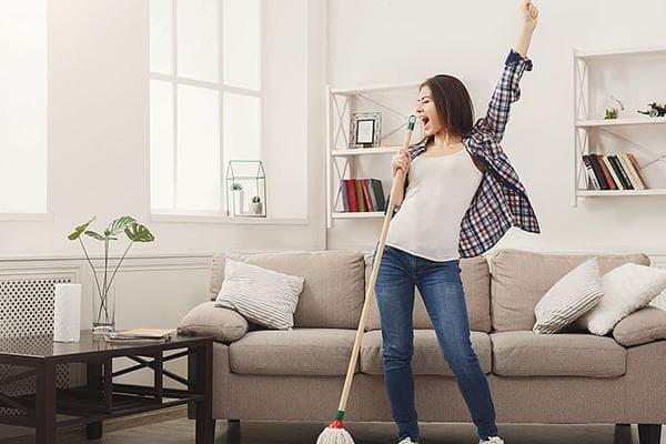 Активная уборка дома