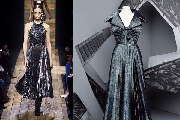 Дизайнерские платья из серебристой ткани