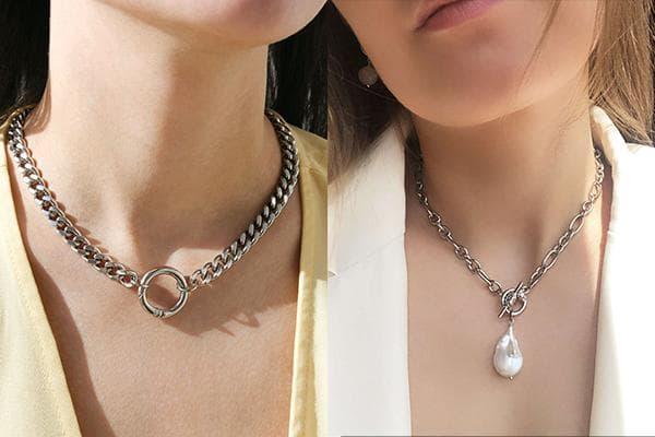 Ожерелья-цепи