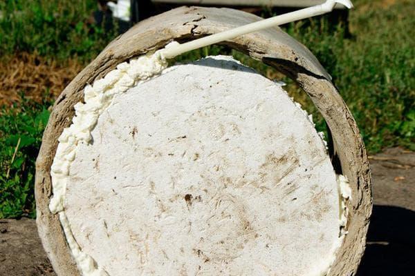 Запенивание отверстия большого диаметра
